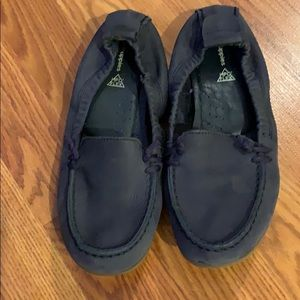 Hush Puppies driving moccasins navy blue size 8